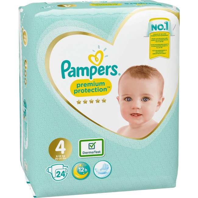 Pampers Pampers Premium Protection - Maat 4 - Small Pack - 24 luiers