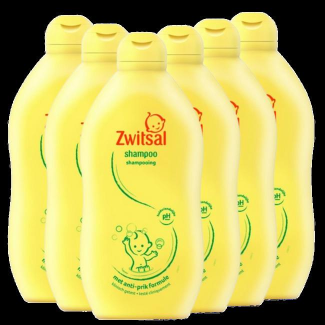Zwitsal Zwitsal Baby - Shampoo - 6 x 500ml - 6-Pack Voordeelverpakking