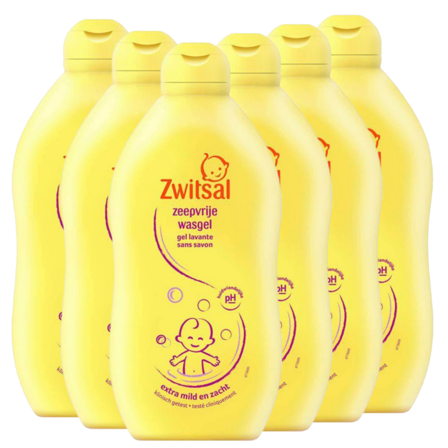 Zwitsal Zwitsal Baby - Zeepvrije Wasgel - 6 x 500ml  - 6-Pack Voordeelverpakking