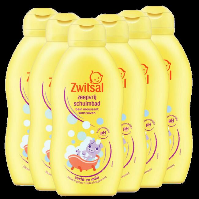 Zwitsal Zwitsal - Zeepvrij Schuimbad Beestenboel - 6 x 200ml - 6-Pack Voordeelverpakking