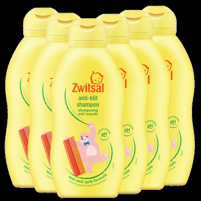 Zwitsal Zwitsal - Anti-klit Shampoo Beestenboel - 6 x 200ml - 6-Pack Voordeelverpakking