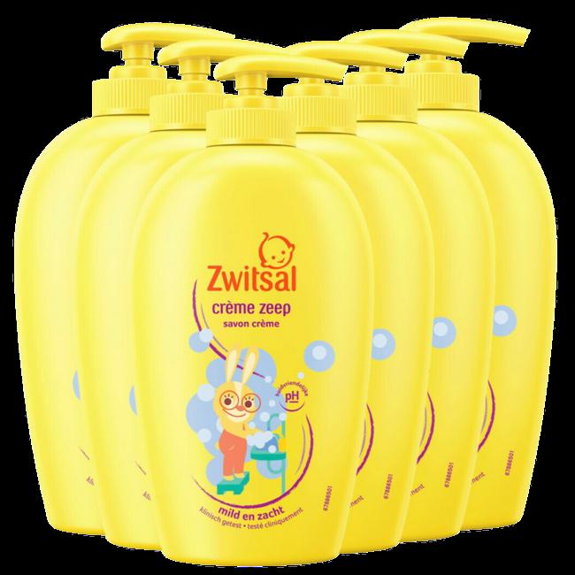 Zwitsal Zwitsal - Creme Zeep Beestenboel - - 6 x 250ml - 6-Pack Voordeelverpakking