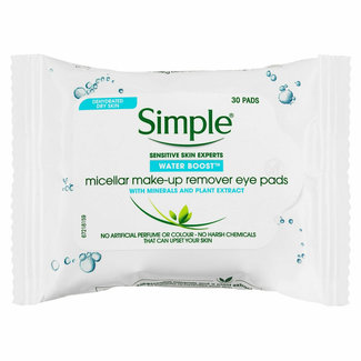 Simple Simple - Micellar make-up Remover - Eye pads - 30 pads