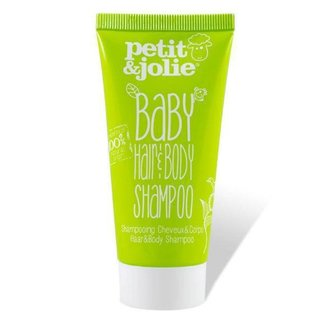 Petit & Jolie Petit & Jolie - Baby Shampoo - Haar & Body - 50ml - Mini verpakking