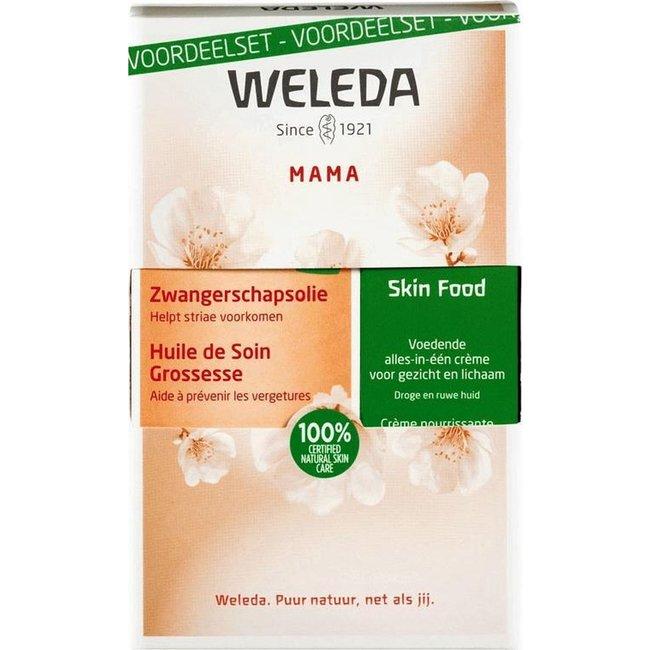 Weleda Weleda - Mama Zwangerschapsolie & Skinfood - Voordeelset