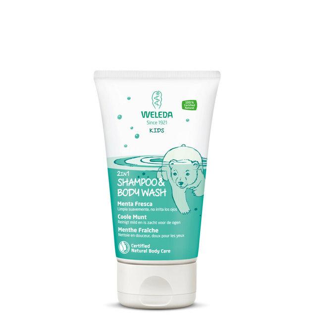 Weleda Weleda Kids - Shampoo & Bodywash - Coole Munt - 150 ml