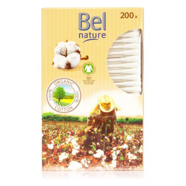 Bel Nature Bel Nature - Organische Baby Wattenstaafjes - 200 stuks