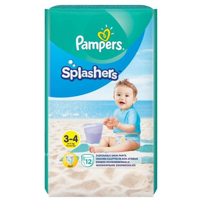 Pampers Splashers - Wegwerpbare Zwemluiers - Maat 3/4 - 12 Zwemluiers