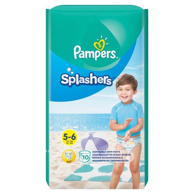 Pampers Splashers - Wegwerpbare Zwemluiers - Maat 5/6 - 10 Zwemluiers