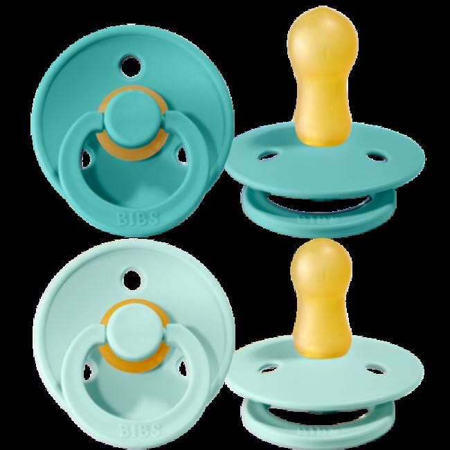 Bibs - Fopspeen - Mint/Turquoise - 2 stuks - Stage 1 - Newborn