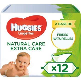 Huggies Huggies - Natural Care Billendoekjes - 12 x 56 babydoekjes - Extra Care