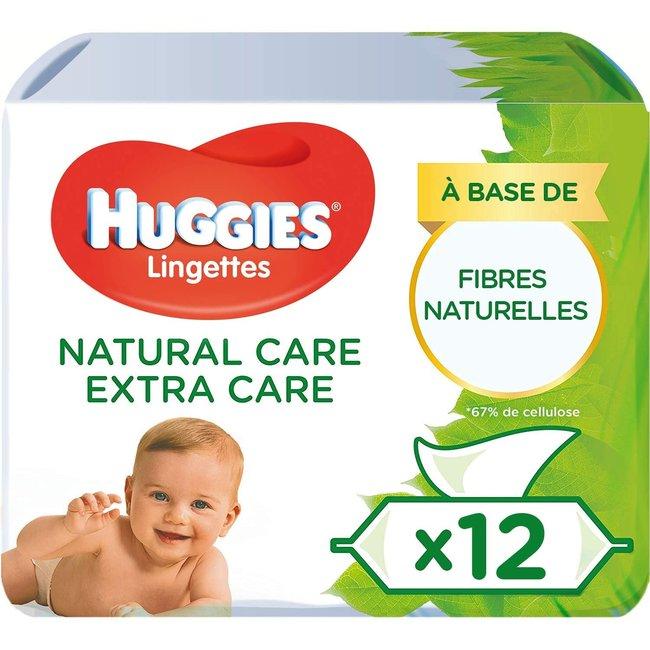 Huggies - Natural Care Billendoekjes - 12 x 56 babydoekjes - Extra Care