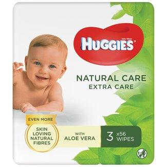 Huggies Huggies - Natural Care Billendoekjes - 3 x 56 babydoekjes - Extra Care