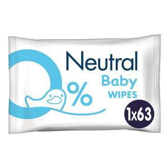 Neutral Neutral - Baby Billendoekjes - 63 stuks - 0% Parfum
