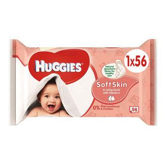 Huggies Huggies - Soft Skin Billendoekjes - 56 babydoekjes