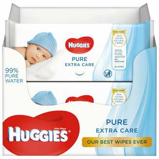 Huggies Huggies - Pure Billendoekjes Extra Care - 8 x 56 babydoekje