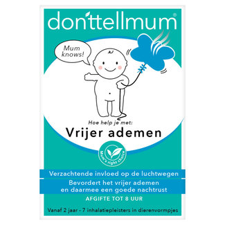 Donttellmumm Donttellmum - Vrijer ademen Inhalatiepleister - 7 stuks