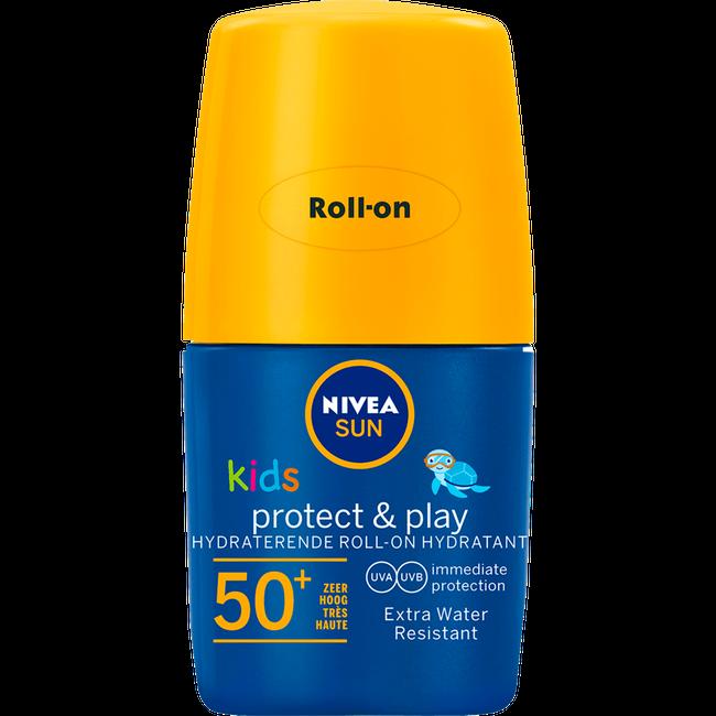 Nivea Nivea Sun Kids - Protect & Play Zonnemelk - SPF50+ Roll-On - 50ml