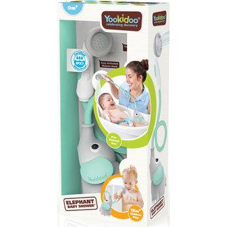Yookidoo Yookidoo - Badspeelset - Elephant Baby Shower - Blauw - 0+ maanden