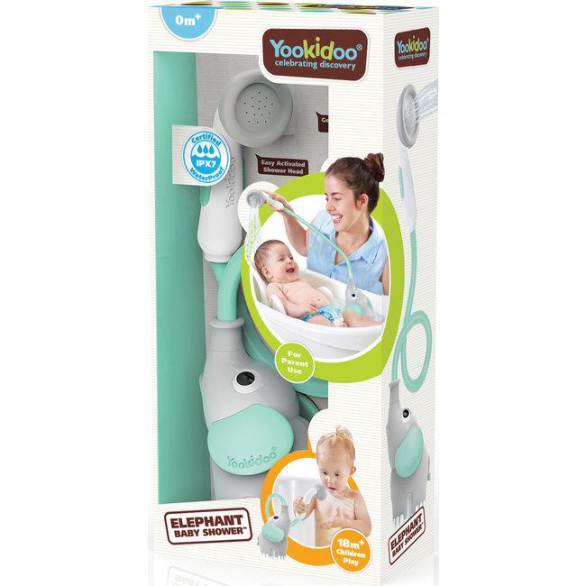 Yookidoo - Badspeelset - Elephant Baby Shower - Blauw - 0+ maanden