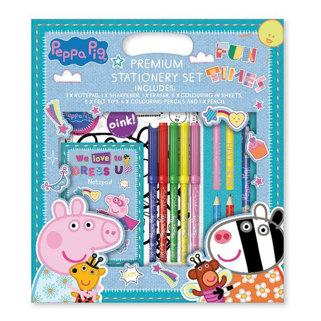 Peppa Pig - Briefpapier Plezierset - 21 delig