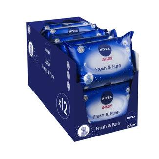 Nivea Nivea Fresh & Pure Billendoekjes - 756 babydoekjes - 12 x 63