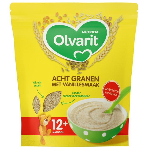 Olvarit Olvarit - Granenpap Acht Granen - Vanillesmaak - 12+M - 200gr