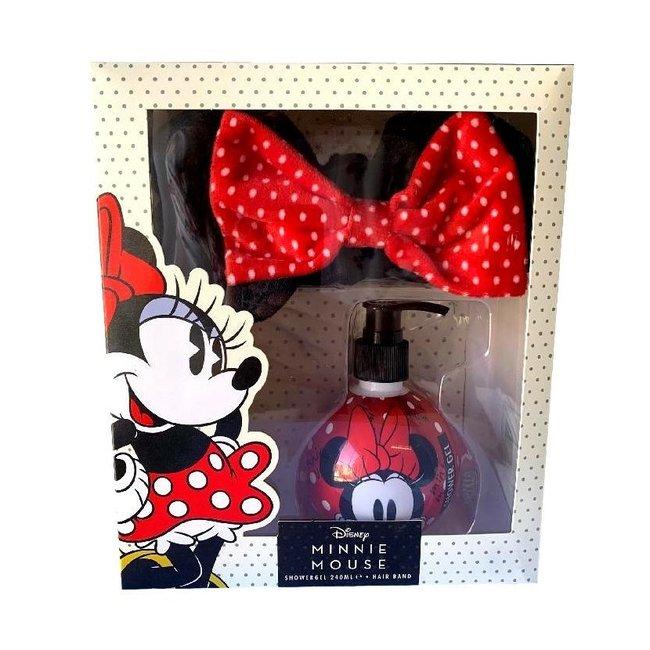 Disney - Minnie Mouse Geschenkset - Bad & Wasgel + Make-up Haarstrik