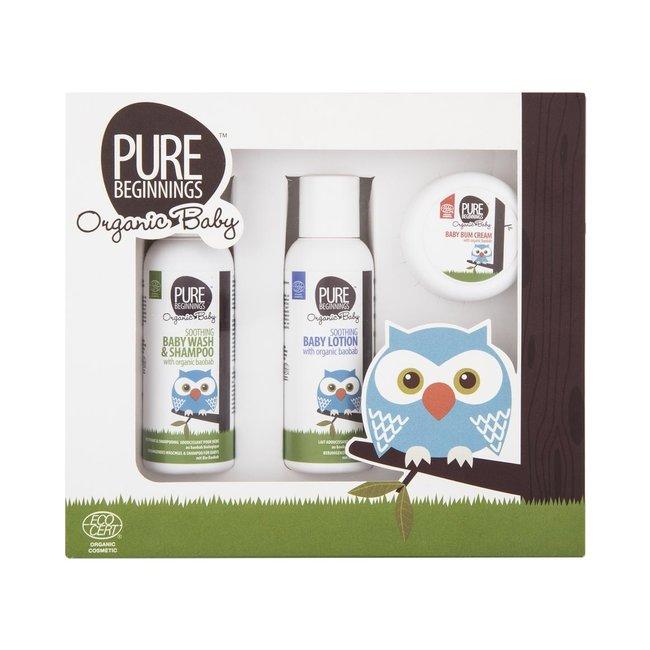 Pure Beginnings Pure Beginnings - Baby Giftset - 3-delig