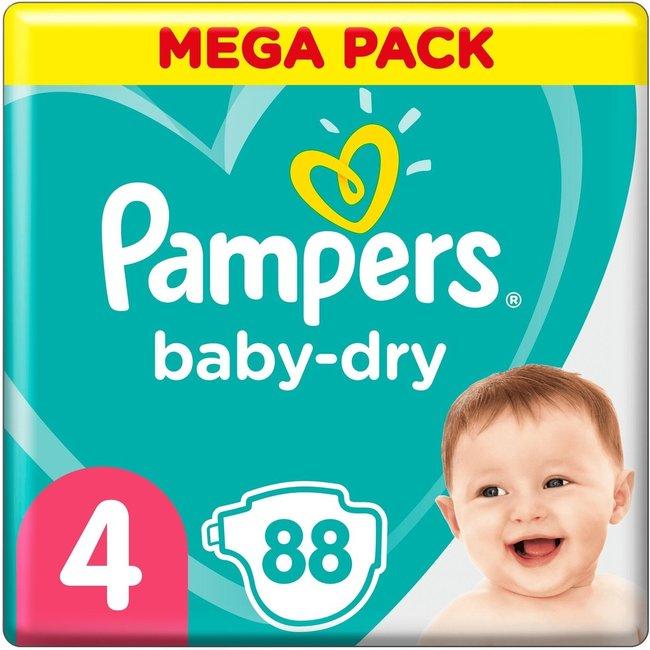 Pampers Baby Dry - Maat 4 - Mega Pack - 88 luiers