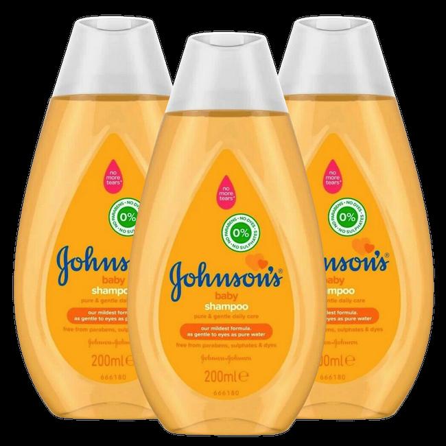 Johnson's Baby Shampoo - Newpack 3x200 ml - Voordeelverpakking