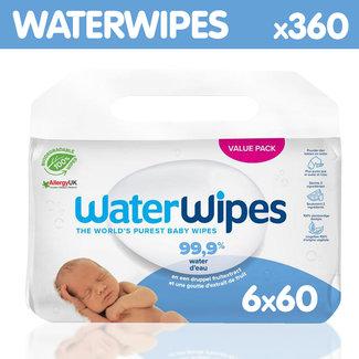 Waterwipes WaterWipes - Billendoekjes - Gevoelige huid - 6 x 60 stuks - Plasticvrij