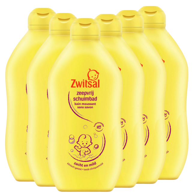 Zwitsal Zwitsal - Zeepvrij Schuimbad - 6 x 500 ml - Voordeelverpakking