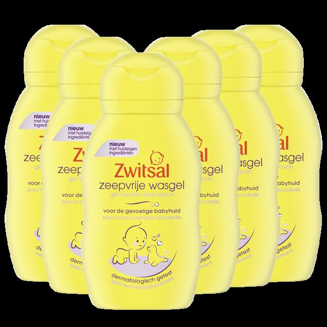 Zwitsal - Zeepvrije Wasgel - 6 x 75ml - Voordeelverpakking