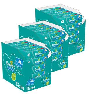 Pampers Pampers Fresh Clean Billendoekjes - 45 x 80 -  3600 doekjes