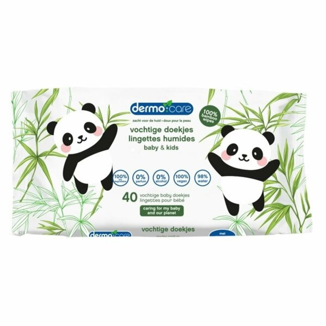 Dermo Care - Bamboo - Snoetenpoetsers - 1 x 40 stuks