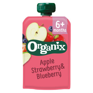 Organix Organix - Knijpfruit - Appel, Aardbei & Bosbes - 6+ maanden - 100 gram