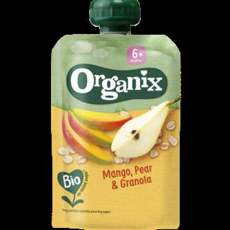 Organix Organix - Knijpfruit - Mango, Peer, Granola - 6+ maanden - 100 gram