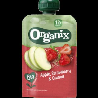 Organix Organix - Knijpfruit - Appel, Aardbei, Quinoa - 12+ maanden - 100 gram