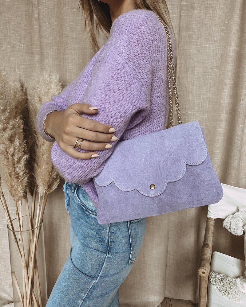 Lila Suède Bag