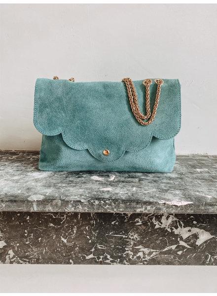 Suède Ocean Blue Bag