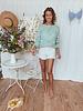White Crochet Short High Waist