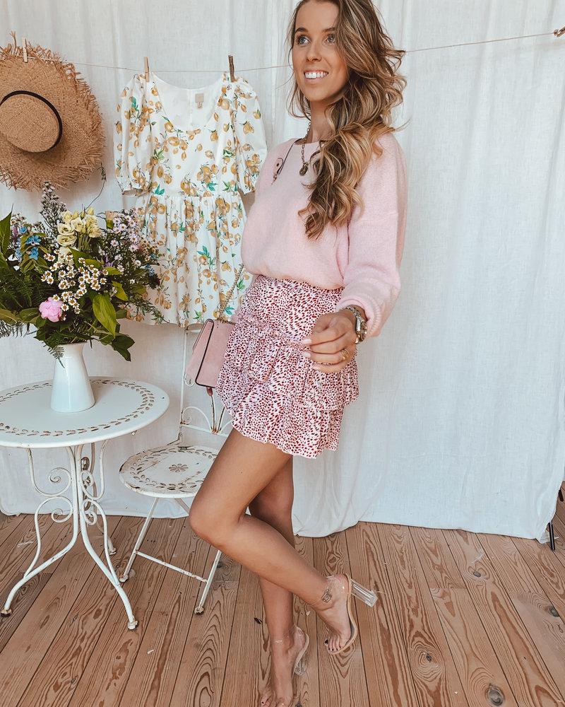 Pink Leopart Skirt