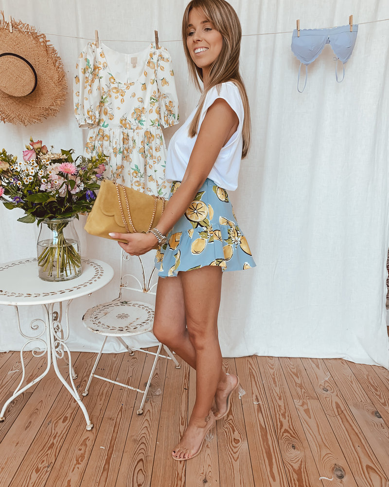 Lemon Blue Summer Skirt