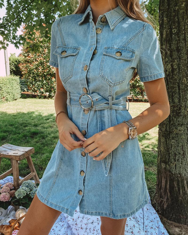 Light Blue Jeans Dress