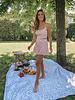 Pink Flower Summer Skirt