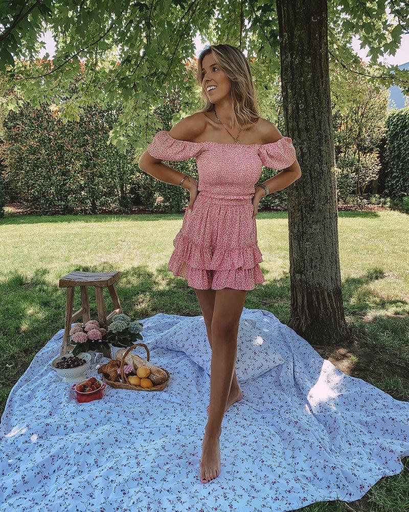 Pink Aurelie Summer Crop Top