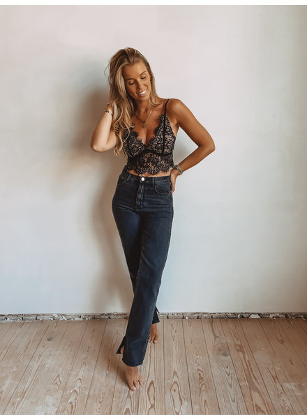 Black Lily Lace Top