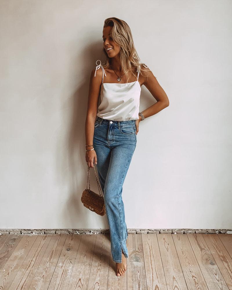 Blue Split Jeans