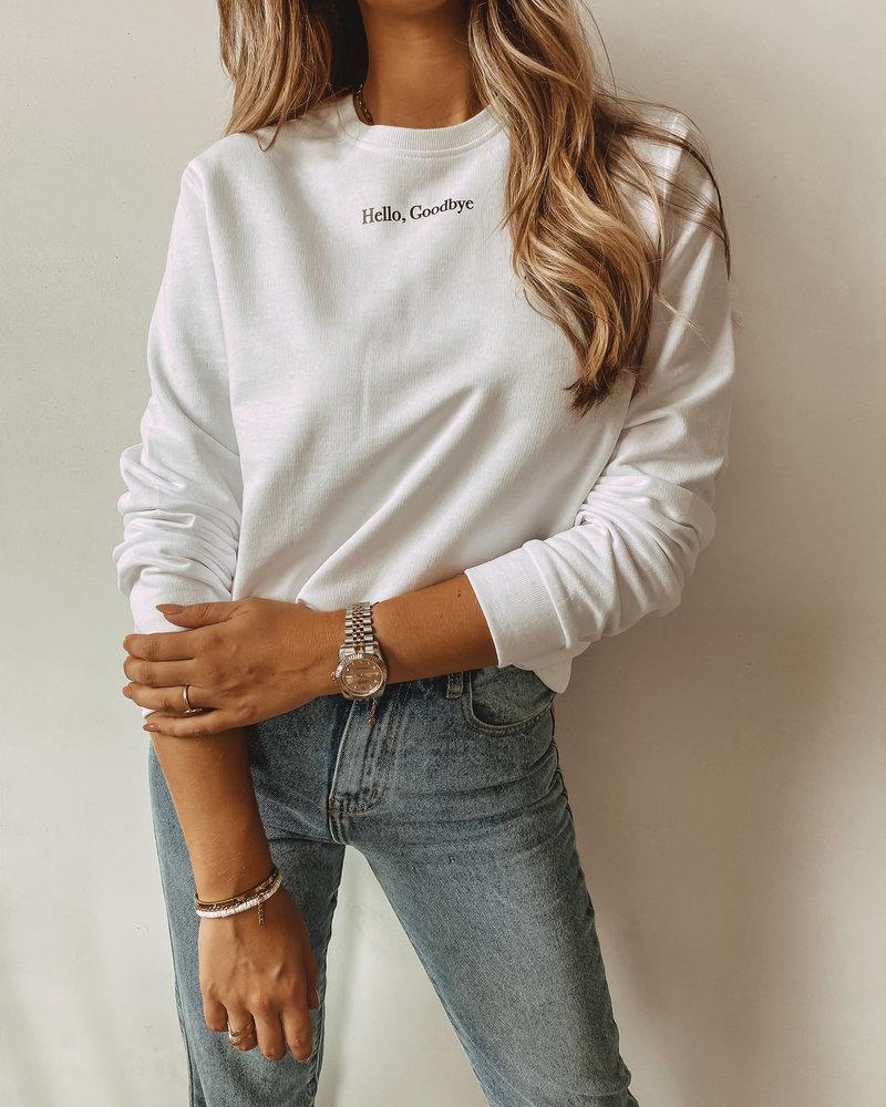 Hello, Goodbye Sweater White